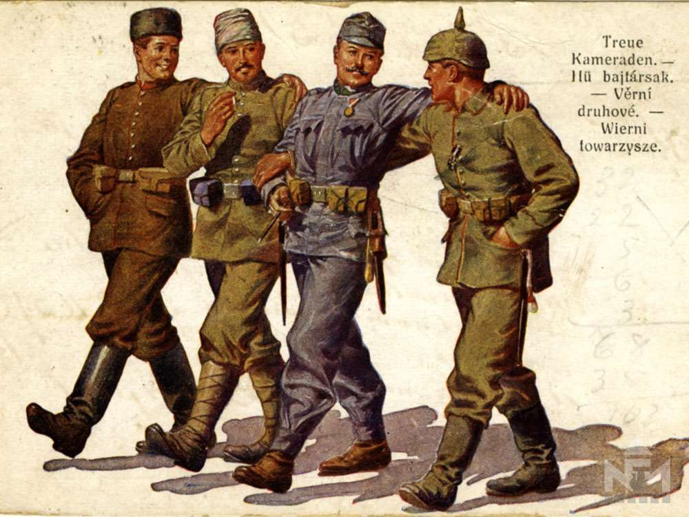 Háborús képeslap a sárvári múzeum gyűjteményéből (ltsz. NFM TD 2016.57.46)