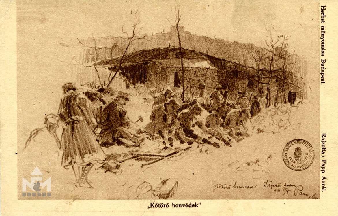 Első világháborús képeslap a Nádasdy Ferenc Múzeum gyűjteményéből