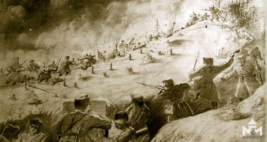 Az első forradalmi hónap. 1917 márciusa (Képeslap a sárvári múzeum képeslap gyűjteményéből)