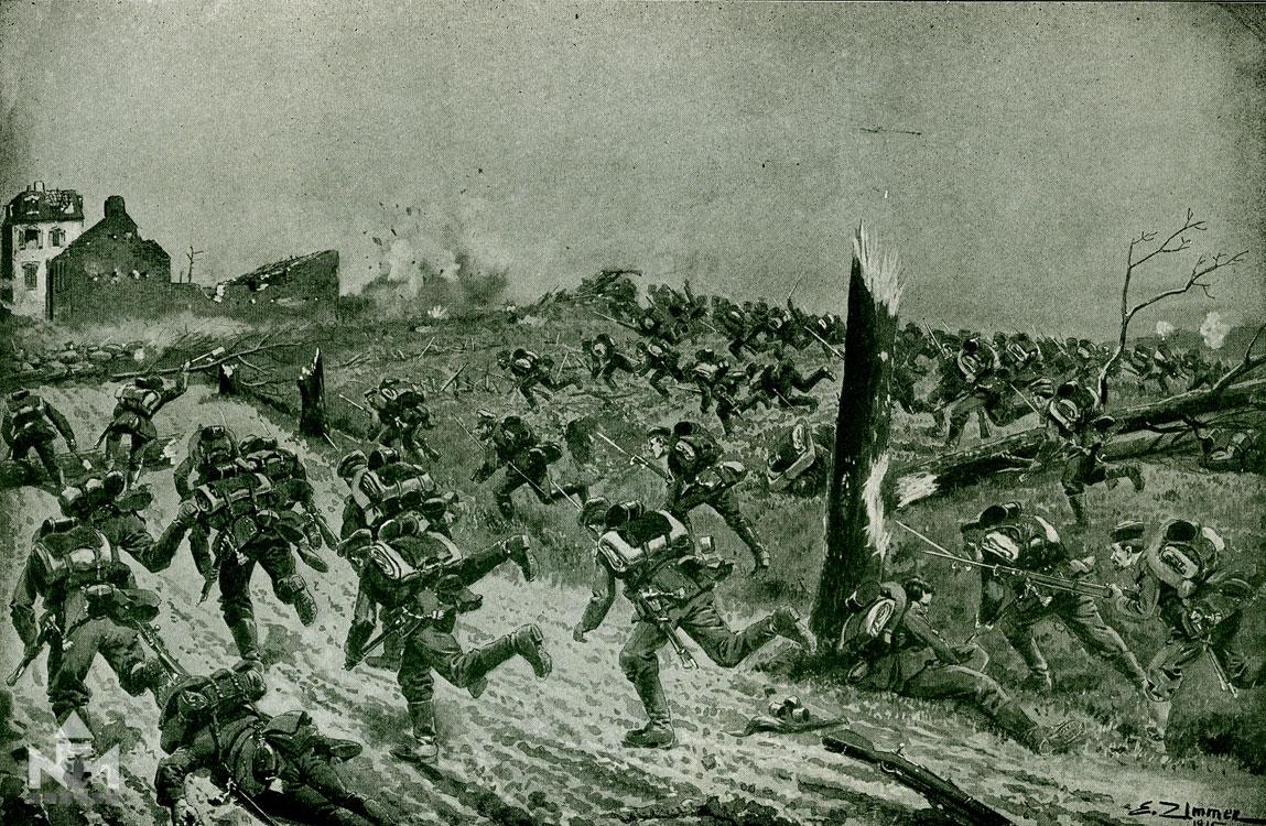 Német rohamcsapat (Landor Tivadar (szerk): A nagy háború írásban és képben. A nyugati front II.)