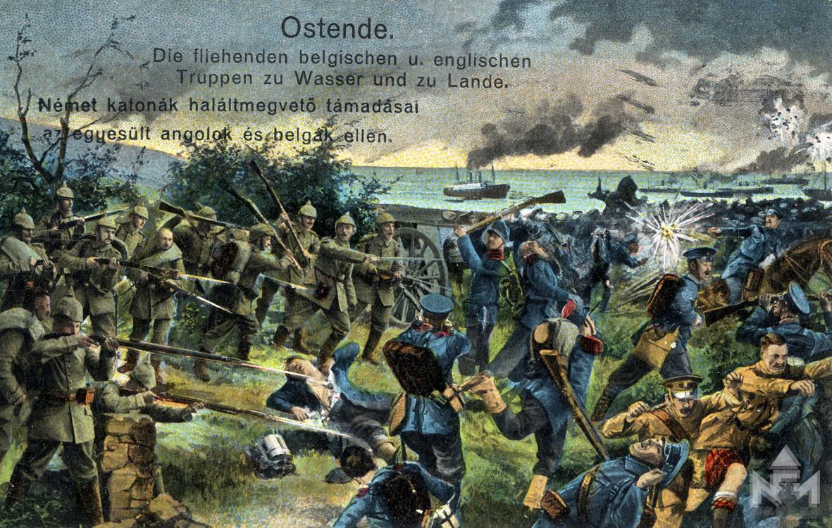 Német propagandaképeslap (képeslap a sárvári múzeum gyűjteményéből ltsz. 66.47.972.)