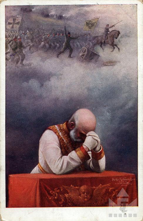 Első világháborús képeslap. Leltári száma: NFM-T 66.47.873