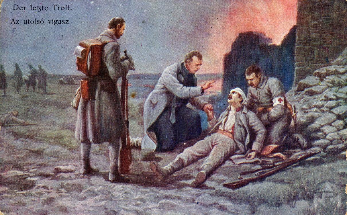 Első világháborús képeslap. Leltári száma: NFM-T 66.47.984